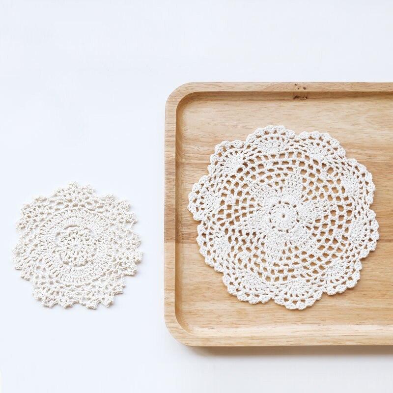 US $5.9 |Stile europeo Zakka Carta Pizzo Centrini All\'uncinetto Accessori  Per la Cucina Decorazione Della Casa Tazza Tazza Sottobicchieri Stuoie ...