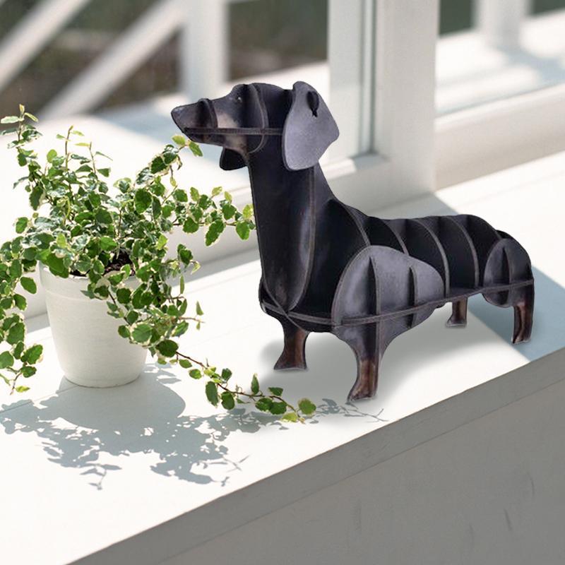HOT 3D Wooden Dog Crafts Art Decoration Storage Box Diy Crafts Office Desk Pen Holder Home Decoration Decoration Storage Box A30