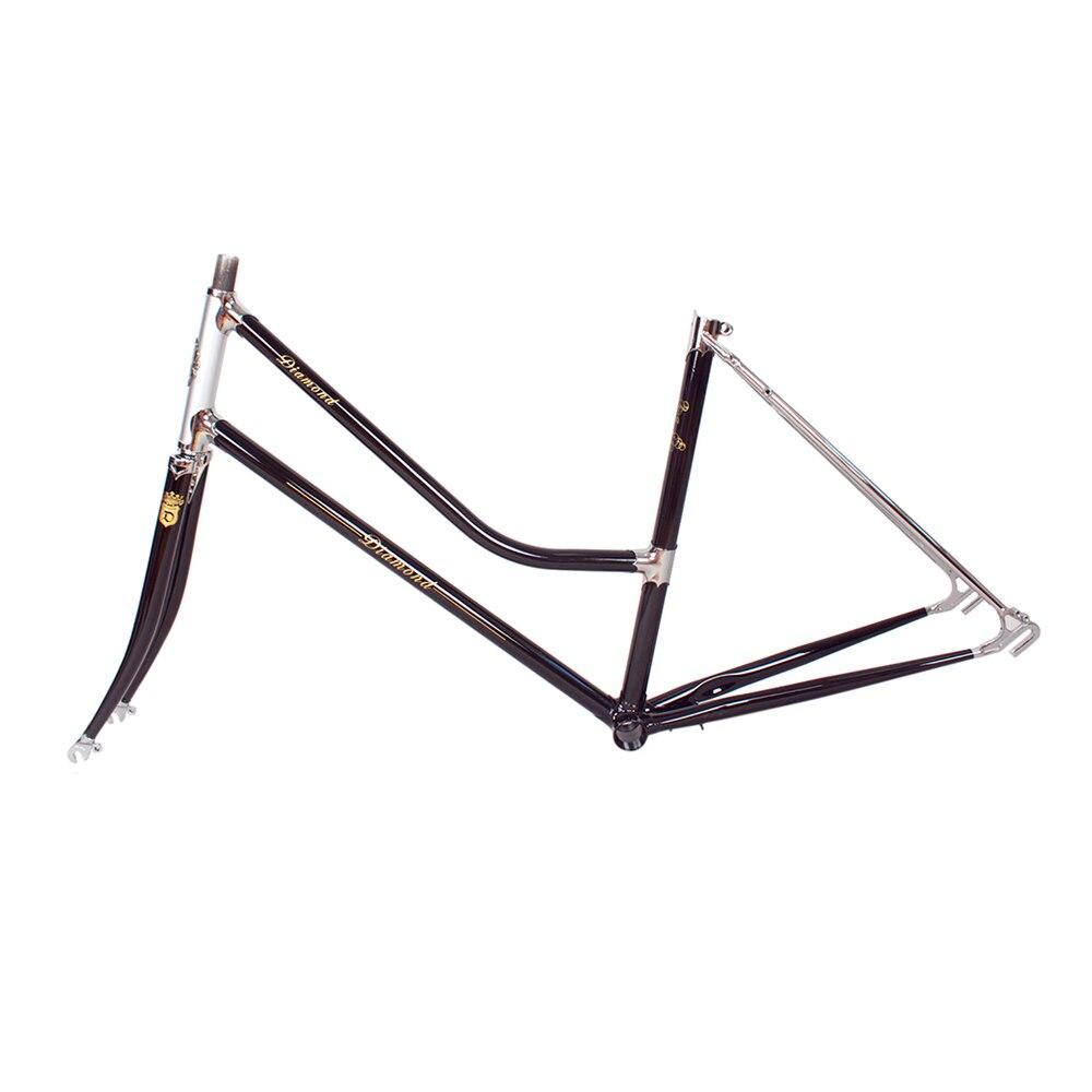lady city road Bike frame Copper plated frame DIY bike Reynolds 525 steel frame touring bicycle frame 48cm 51cm oem diy 34 25cm 17 51cm 25 51cm 24 24cm