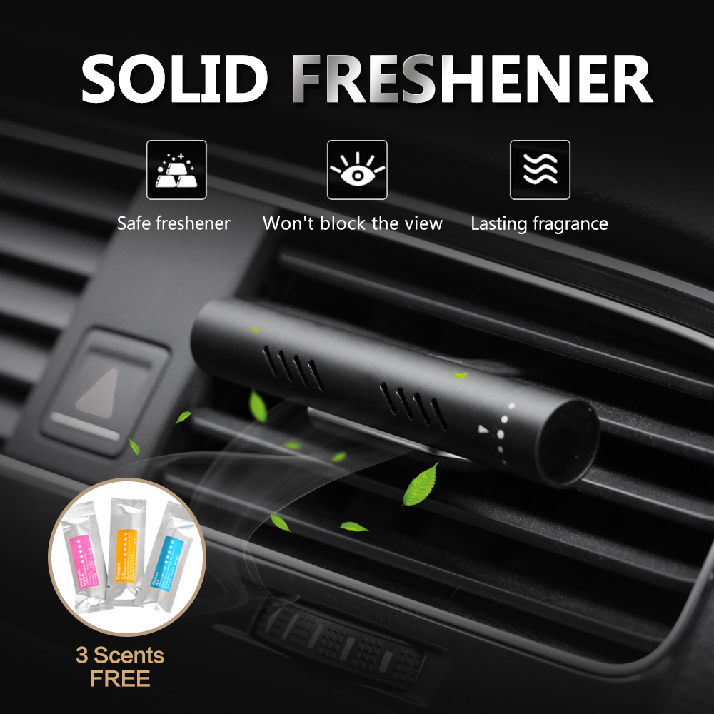 Car Air Freshener Car Perfume Vehicle Solid Air Purifier 3 Scents Bars Natural Aroma for Vehicle Bedroom Improve Air Quality