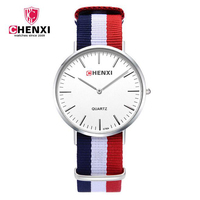 Hot Sale CHENXI New Men Quartz Watch Nylon Strap Fashion Simple Watches Male 30M Waterproof Clock