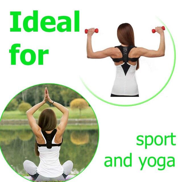 YOSYO Brace Support Belt Adjustable Back Posture Corrector Clavicle Spine Back Shoulder Lumbar Posture Correction 2