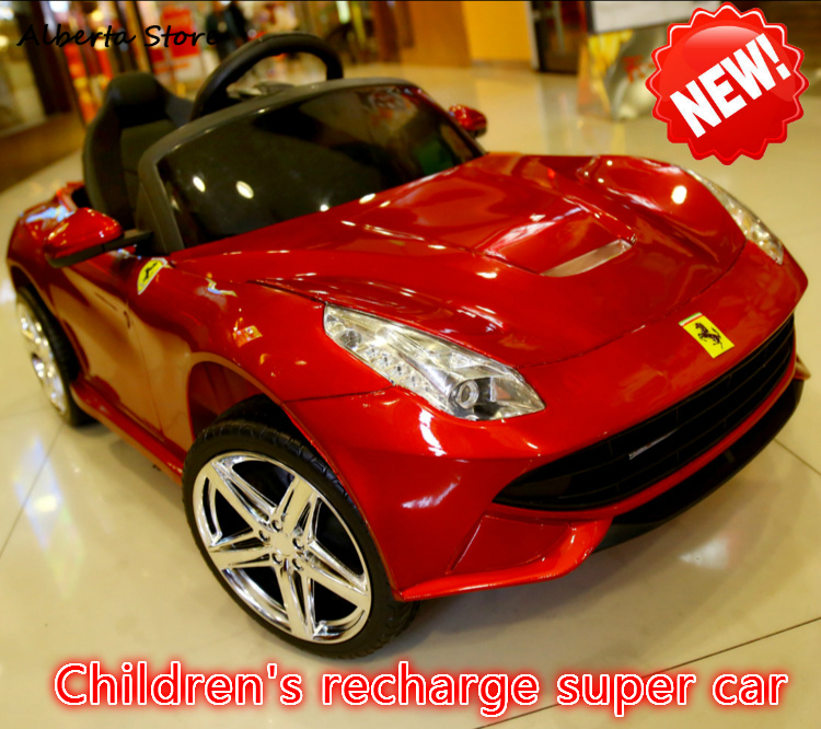 Brinquedos ao ar livre Passeio em Carro Crianças Novo 2.4G de Controle Remoto Elétrico Do Bebê Carro de Quatro Rodas Double Drive Super Recarga carro Menino Menina