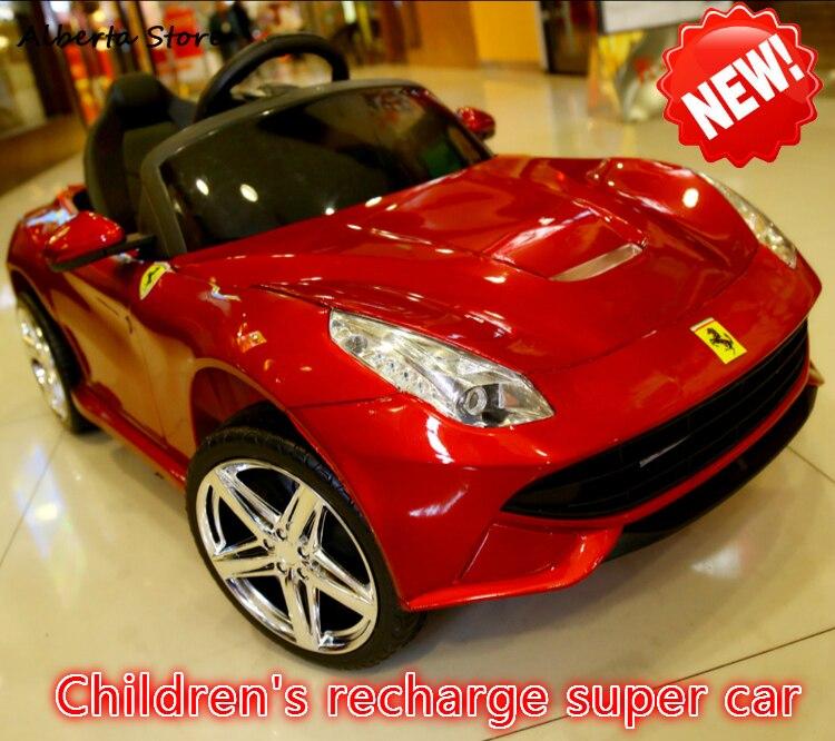 Jouets de plein air monter sur la voiture nouveaux enfants 2.4G télécommande voiture électrique quatre roues Double lecteur Super Recharge bébé voiture garçon fille