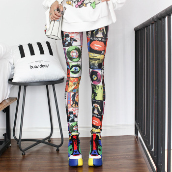 Fashion Leggings Sexy Casual Highly Elastic and Colorful Leg Warmer Fit Most Sizes Leggins Pants Trousers Woman's Leggings 2