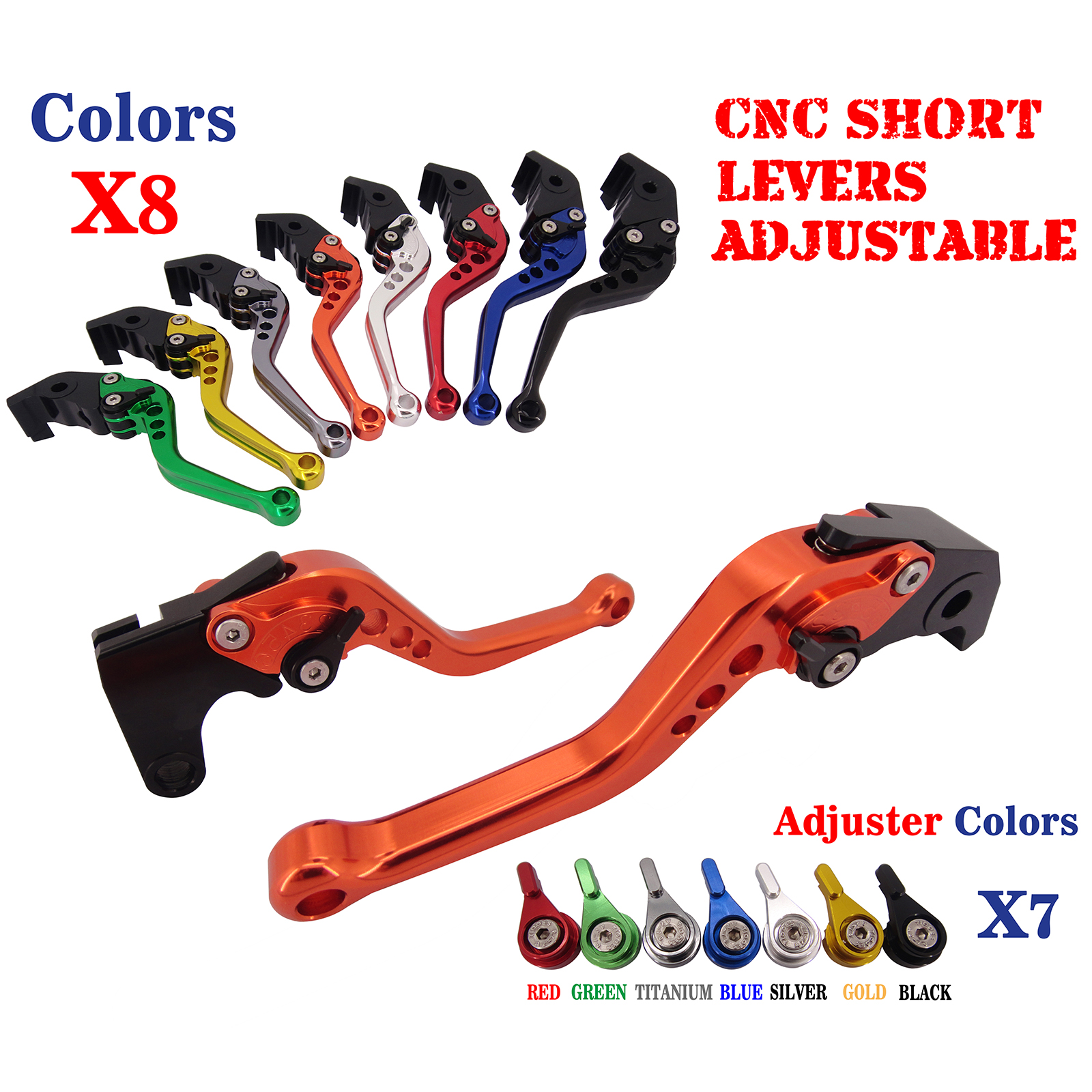 CNC Short Adjustable Brake Clutch Levers For Kawasaki Z1000 2007 2008 2009 2010 2011 2012 2013 2014 Motorbike Brakes billet adjustable long folding brake clutch levers for kawasaki z750 z 750 2007 2008 2009 2010 2011 07 11 z800 z 800 2013 2014