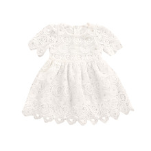 elegant girl party dress Kid Baby Girl Toddler Infant Baby Girl Floral Lace Short Sleeve Princess Formal Dress Outfits