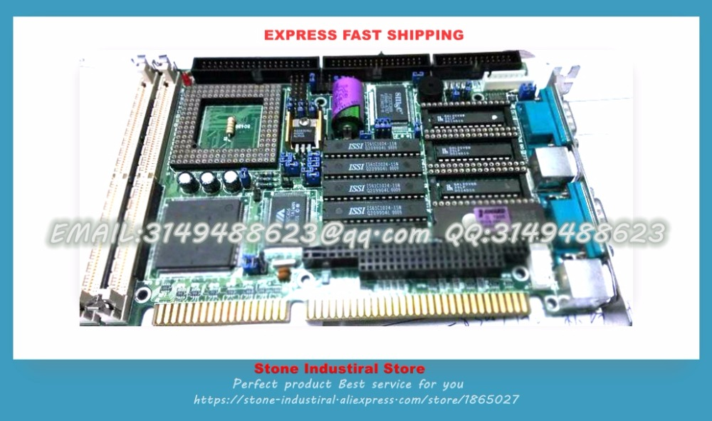 LMB-486LH half- length 486 ISA industrial motherboard CPU memory cassette 100% test  good quality sbc8251 rev c2 industrial board 586 isa half size cpu card tested good working perfect