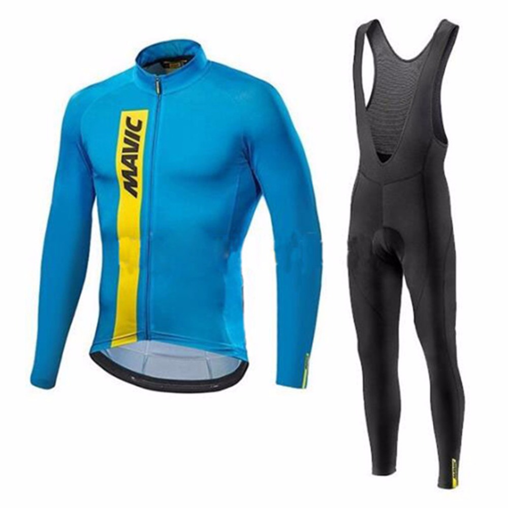 MAVIC New Breathable Long Sleeves Riding Wear Set Mens Spring / Autumn Team Cycling Jersey Bikewear Ropa Maillot Ciclismo