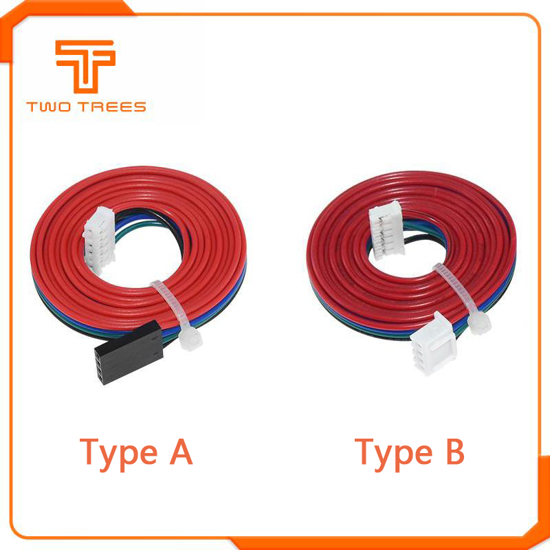 1M DuPont Line Two-phase XH2.54 4pin To 6pin Terminal Motor Connector Cables For 42 Stepper Motor