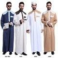 Homens Abaya Muçulmano Thobes Muçulmano 2017 Nova Cor Dos Homens islâmicos Roupas combinando Homens Correm O Oriente médio Árabe Chinês Túnica terno