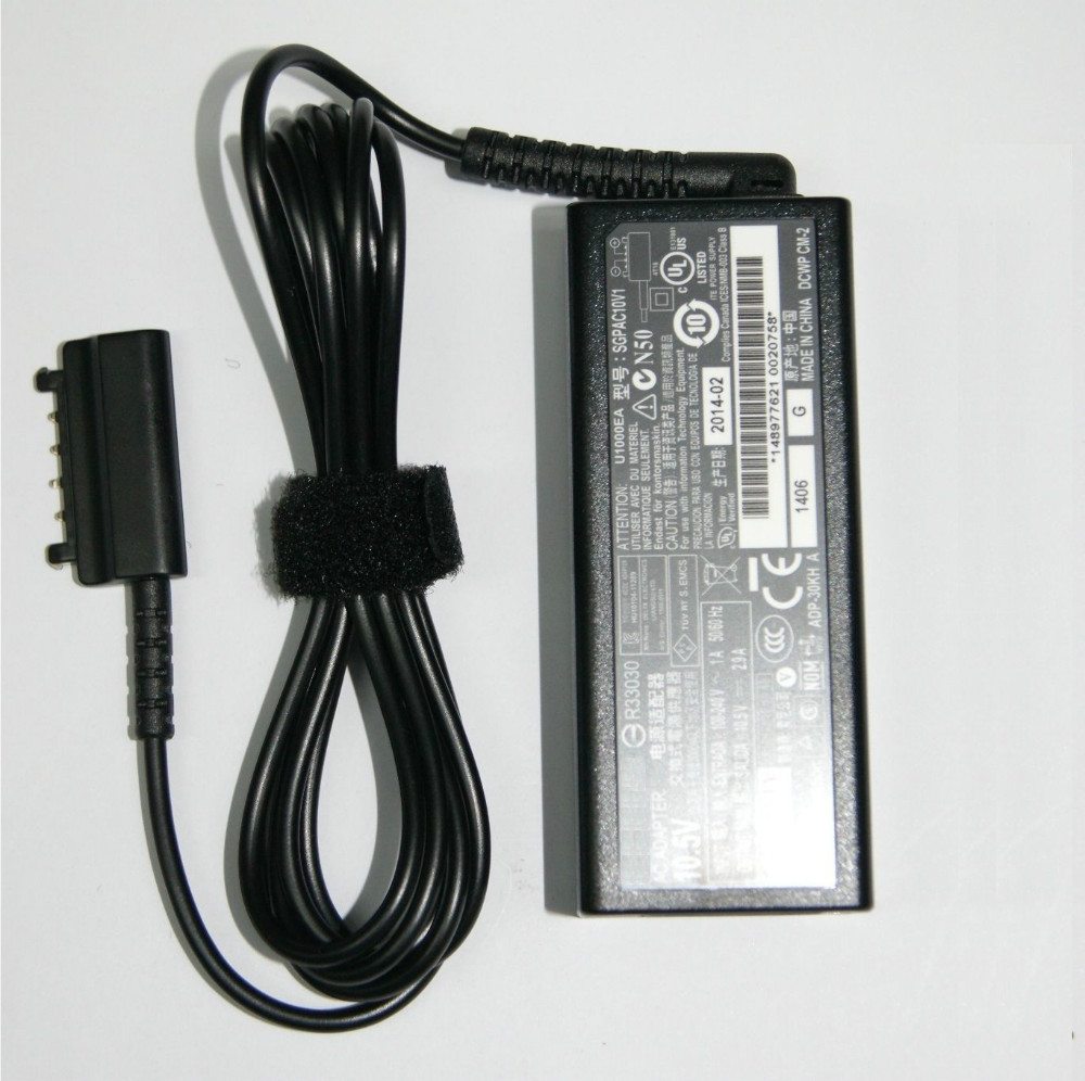 (DHL Fast delivery) New Arrival 10.5V 2.9A For Sony Xperia Tablet S charger R33030 ADP-30KH A SGPAC10V power supply adapter