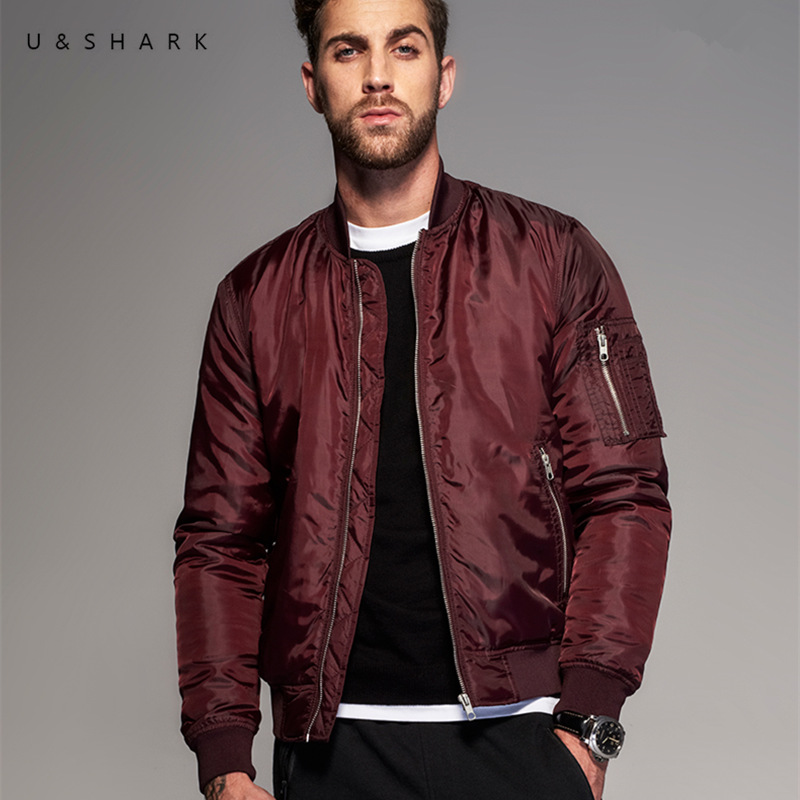Uu0026Shark Fashion Designer Waterproof Pilot Flight Jacket Men Jaqueta Masculina MA 1 Coat 2016 ...