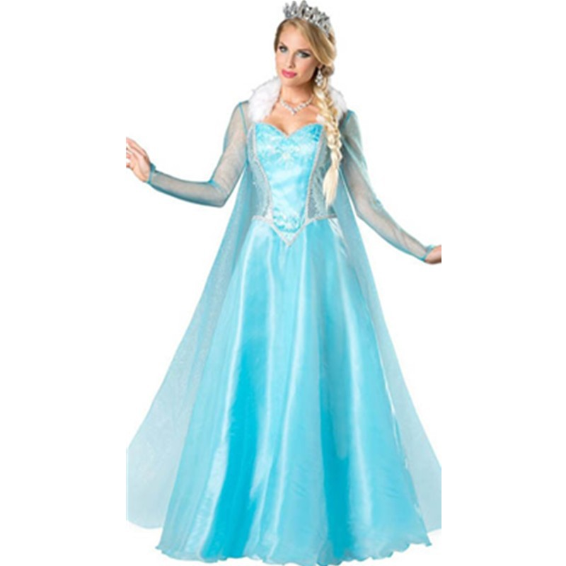 Popular Movies Adult Sexy Costume Sexy Cosplay Costumes Blue Ice Elsa Snow Princess Costume Adult Dress Up Costumes L15242 L15242 (3) 800x800