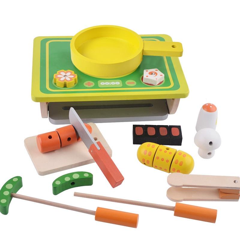 척 장난감, 부모-자식 상호 작용 나무 장난감 어린이 - 역할연기 - 사진 4