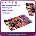 Калер ПРИВЕЛО асинхронный контроллер карты Z8 полноцветный видео карты 256*1024 пикселей открытый rgb СВЕТОДИОДНЫЙ экран на открытом воздухе видео-стена