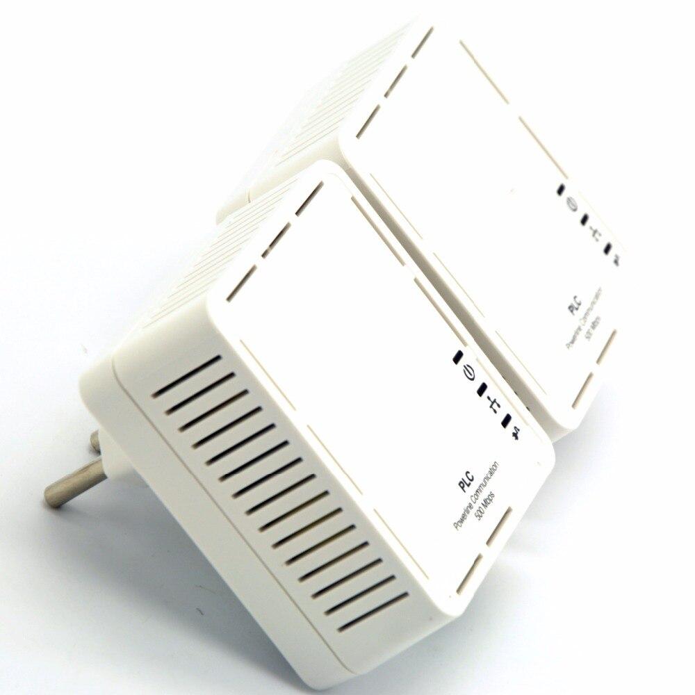 2pcs Eu Plug 500mbps Nano Powerline Adapter Kit Homeplug Av With Radiolabs Wireless 1watt Amplifier And Poe Injector Ethernet Power Line Lan Network Extender Plc For Iptv In Adapters