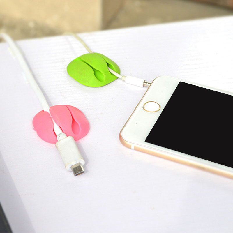 Audacious Hottest 2pcs Tpr Earphone Cable Winder Organizer Holder P Wire Fixing Device Two Clips Novel Design; In