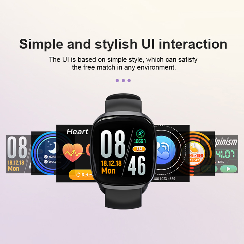 Image 4 - Women Smart Watch Sport Fitness Tracker Heart Rate Monitor Smartwatch Bluetooth Music Control Waterproof Watch For Android-in Smart Watches from Consumer Electronics