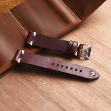 KZFashion New watch bracelet belt Classic Red wine watchbands genuine leather strap watch band 18mm/20mm/22mm/24mm watchband carbon fiber particles watchband 18mm 20mm 22mm 24mmblack waterproof red stitching with genuine leather inner watch band strap