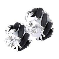 4 stücke Links + Rechts 60mm Aluminium Mecanum Rad Set mit 4/5/6mm Motor Welle kupplung für Roboter Auto Universal Räder Zubehör-in Ersatzteile & Zubehör aus Verbraucherelektronik bei