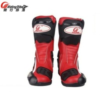 Free transport 1pair Professional Motorcycle Offroad Motocross MX GP Racing Sport Leather Motorcycle Boots Shoes