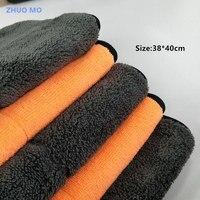 2 шт. 38*40 см суперабсорбирующих салфетка из микрофибры Полотенца для чистки автомобиля сушки ткань Hemming Полотенца rag для автомобиля