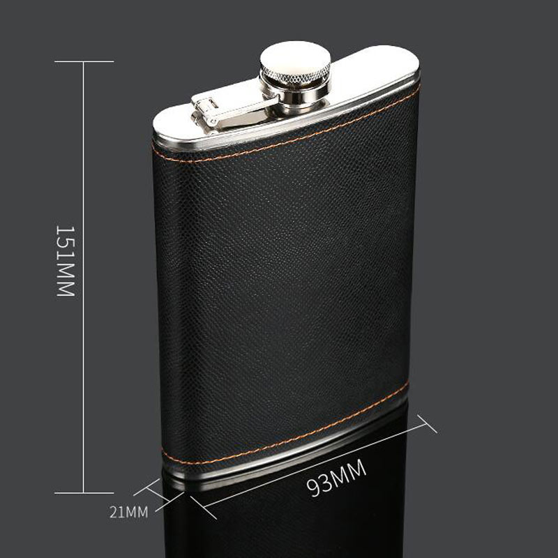 Leather Flask Stainless Steel Kit 2