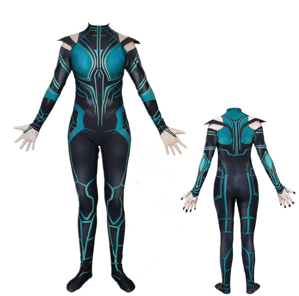 Thor Ragnarok Hela Cosplay  Bodysuit Suit Costume Zentai Jumpsuits Catsuit