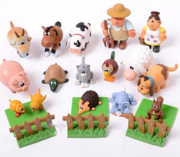 high  quality  bestfriend doll farm animal model 16pcs/setplay house  toy  gift
