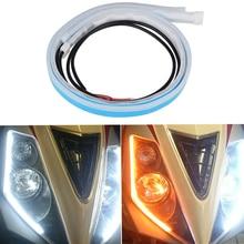 2Pcs/Set 12v Led Turn Signal Motorcycle DRL Light Daytime Running Strip Lamp Indicator Motorbike Universal