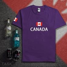 Kanada t-shirt männer trikots 2017 neue t-shirts 100% baumwolle nation team treffen fans streetwear fitness marke clothing homme ca(China)