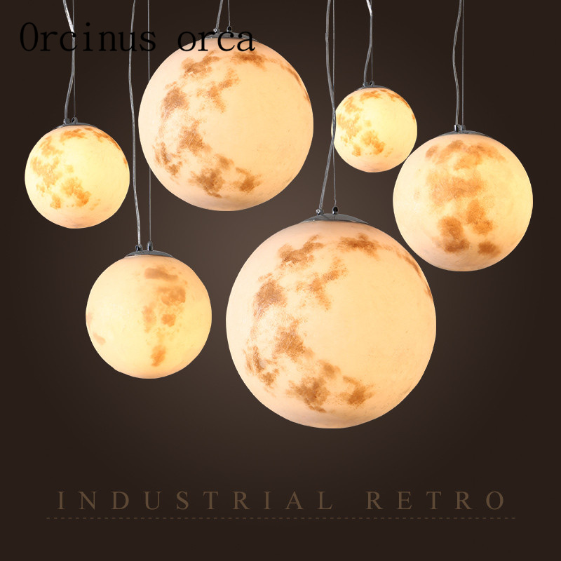 Nordic minimalist moon chandeliers restaurants cafes clothing stores personalized industrial wind chandeliers Postage free