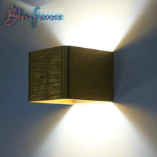 Indoor 3W LED Wall Lamp Brushed Aluminum Wall Lamp Surface Mounted Bedroom Lights Wall Sconce Modern Simple Lighting Lamps