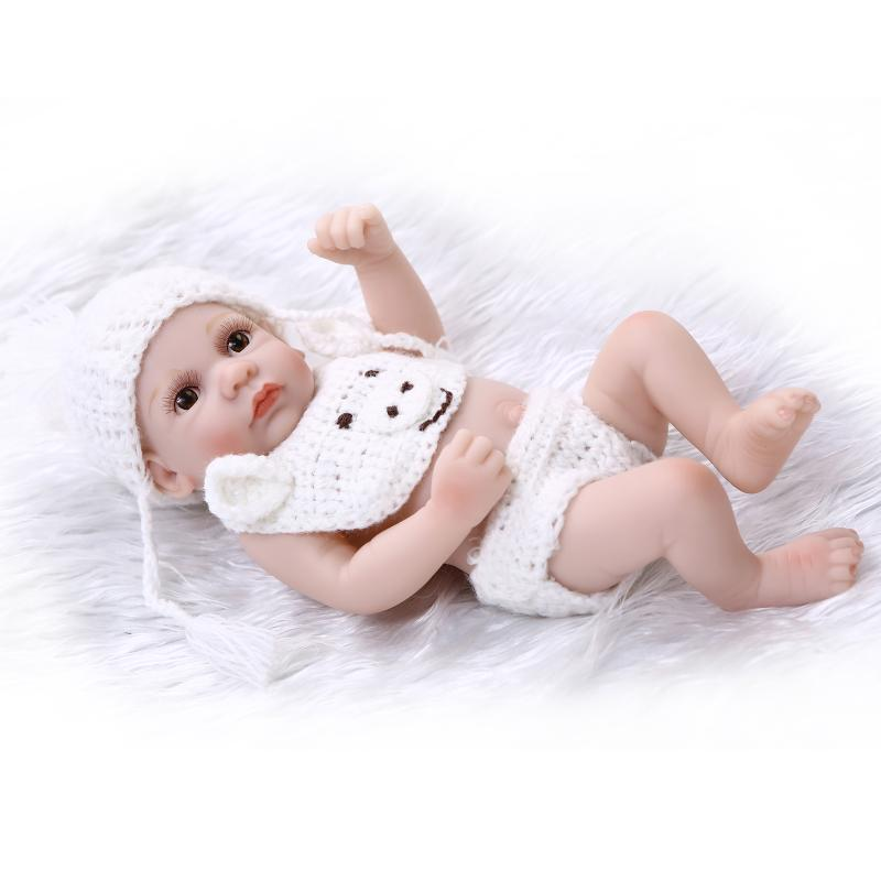 Mini NPK Bebe Reborn Doll 10 inch Lifelike Baby Full Silicone Bonecas Baby Alive Dolls lovely toys for children