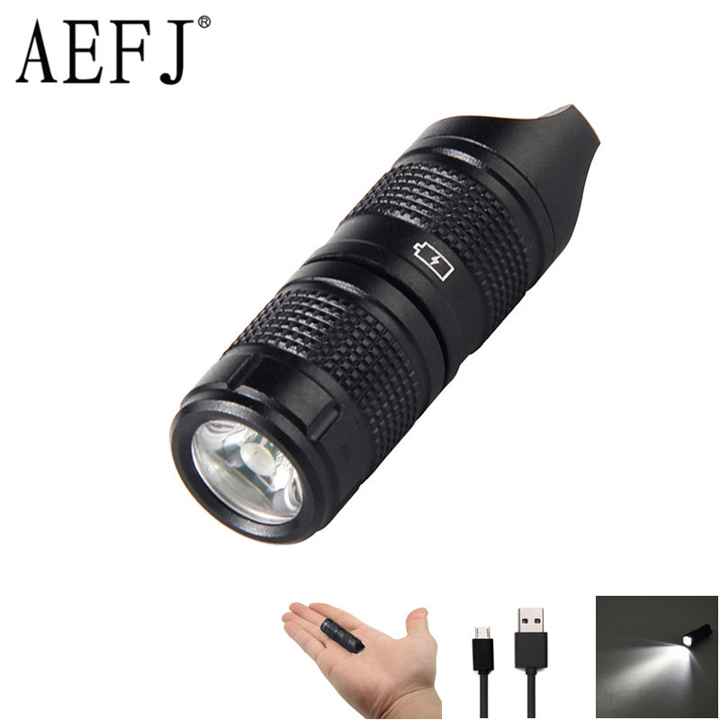 Mini Pocket XP-G2 R5 LED Flashlight USB Rechargeable Portable Waterproof White Light Keychain Torch Small Lanterna With Battery