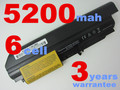 5200 mah batería del ordenador portátil para ibm lenovo thinkpad t61 t61p r61 r61i t61u r400 t400 6 células