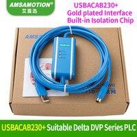 USB DVP Suitable Delta DVP PLC Programming Cable USBACAB230 DVP ES EE SS Series Communication Cable