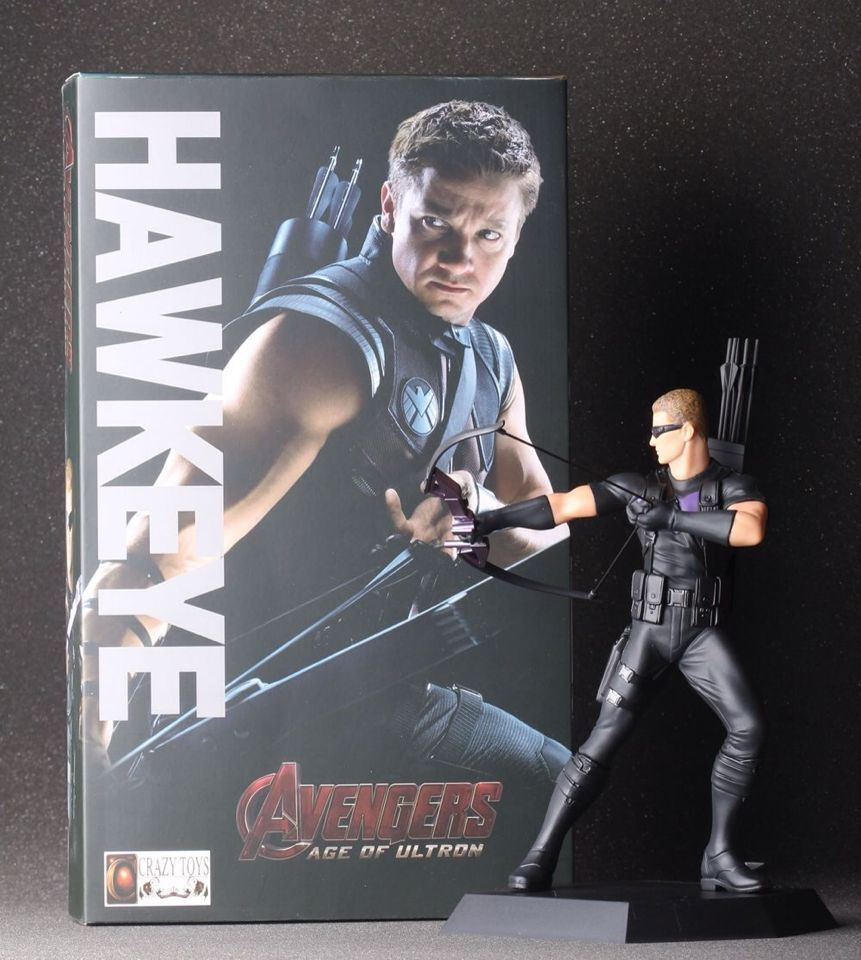 7 18CM Crazy Toys Avengers Age of Ultron super Hero Hawkeye Clint PVC Action Figure Collectible Toy brand new 1 6 scale avengers age of ultron hawkeye clint barton jeremy renner head sculpt for 12 action figure model toy