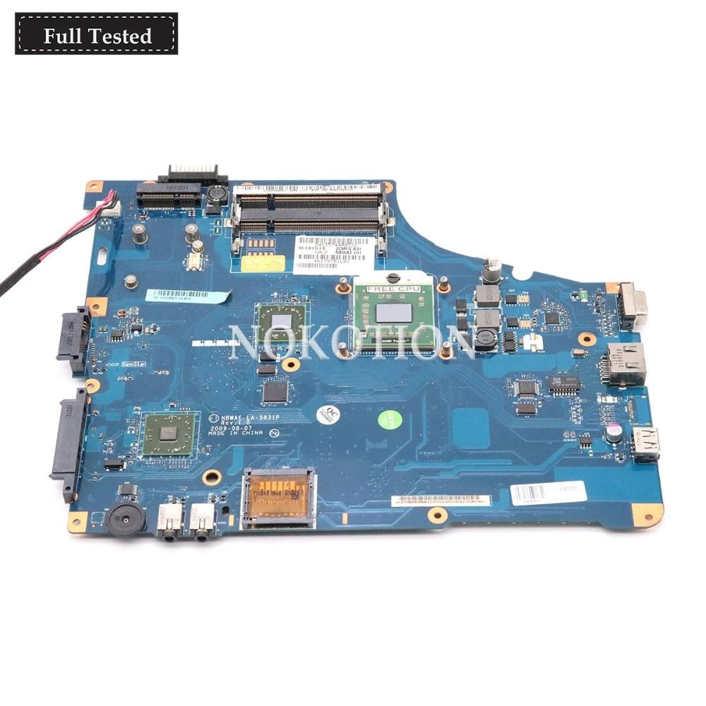 NOKOTION K000085470 K000085480 Main board LA 5831P For Toshiba Satalite L455D L450D Laptop Motherboard Free CPU