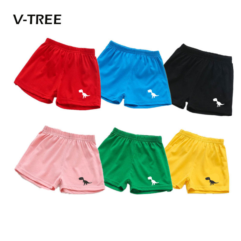 V-TREE New Summer Baby Boys Girls Shorts Candy Color Cotton Kids Beach Shorts Pants sports Children Brand Baby Clothes 2-7T stylish mid waist candy color slimming shorts for women
