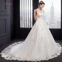 Dream Angel Real Photo Lace Princess Wedding Dress 2016 Luxury Appliques Beaded Pearls A Line Vintage