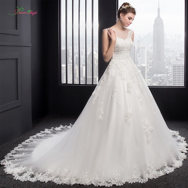 Traum Engel Real Photo Spitze Prinzessin Hochzeitskleid 2017 Luxus ...