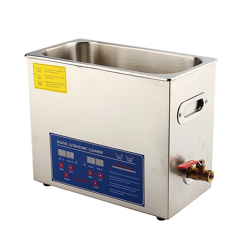 Stainless Steel 6 L Liter Industry Heated Ultrasonic Cleaner Heater with Timer derui auto parts ultrasonic cleaner with timer and heated dr mh30 3l