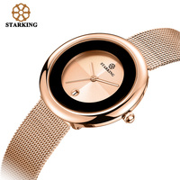 Starking Top Brand Women Quartz Watch 7mm Luxy Rose Gold Bracelet Watches Casual Lady Gift Stainless