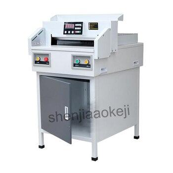G450VS + papier elektryczny frez automatyczne NC gilotyna do papieru 450mm maszyna do cięcia papieru A3 rozmiar przycinarka do papieru 220 V 1 PC