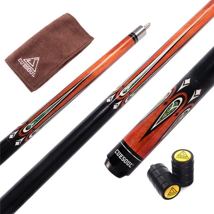 CUESOUL Special Price Canadian Maple Wood Billiard Pool Cue Stick with 11.5 mm Cue Tips & Clean Towel & Cue Protectors