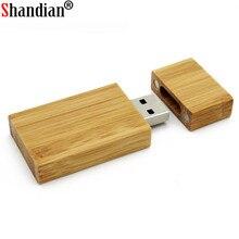 SHANDIAN Wooden USB Flash Drive pendrive 4GB 8GB 16GB 32GB Memory Stick
