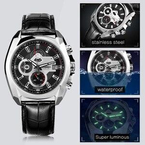 Image 4 - Reloj de lujo para Hombre, Reloj Masculino de pulsera, deportivo, militar, de cuarzo, cronógrafo luminoso
