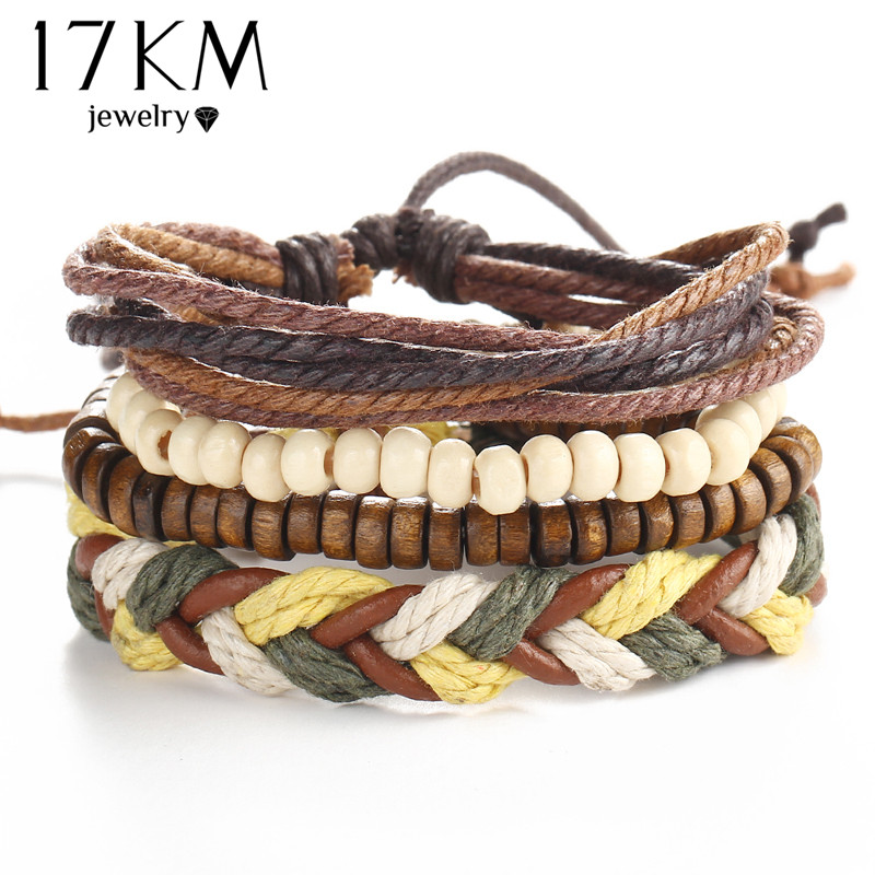 Vintage Style Layered Leather Bracelet Men Women Punk Fashion Accessories 611 Ebay